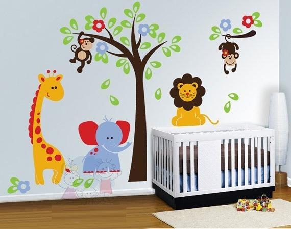 Vinilos decorativos infantiles regalo nombre del bebe c for Vinilos para piezas