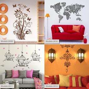 Vinilos Decorativos Living Comedor Flores Ramas Livb 1a36