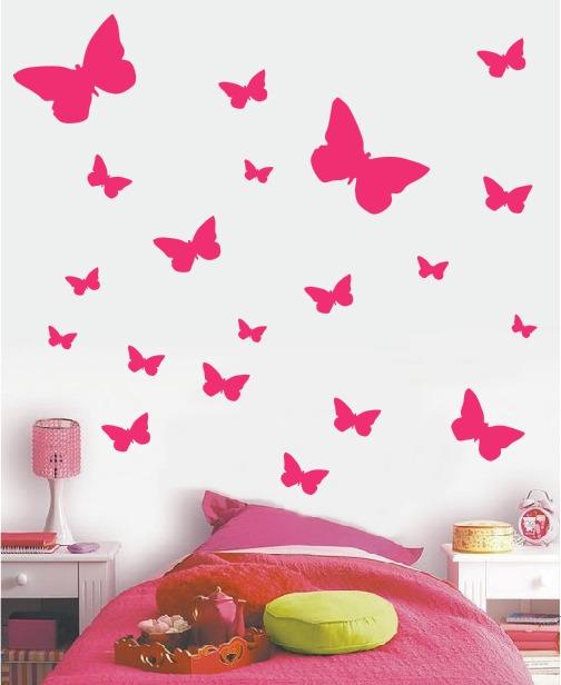 Vinilos Decorativos Mariposas Estrellas Corazones Lunares 7500