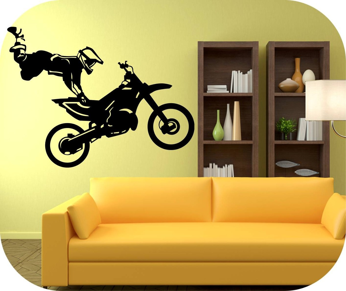 Vinilos decorativos motivo carros y motos decoracion paredes bs en mercado libre - Decoracion vinilos adhesivos ...