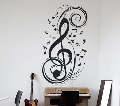 Vinilos decorativos motivo musicales rotulados paredes for Vinilos decorativos pared musicales