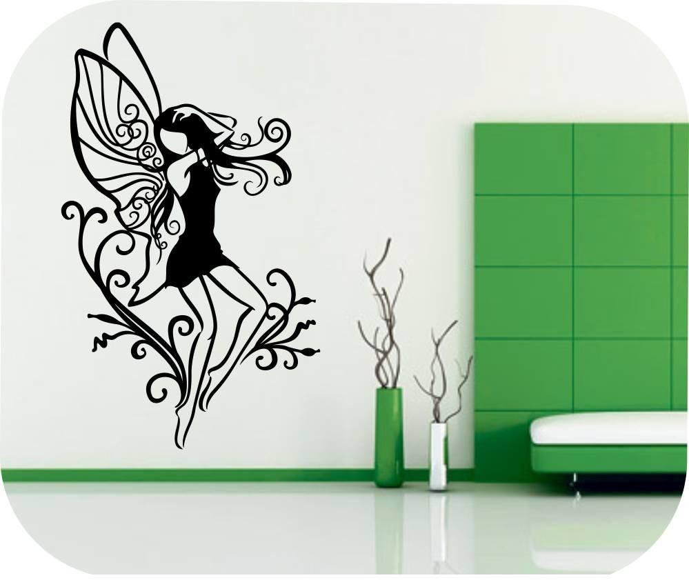 Vinilos decorativos motivos hadas mariposas fantasia pared - Vinilos de motos para pared ...