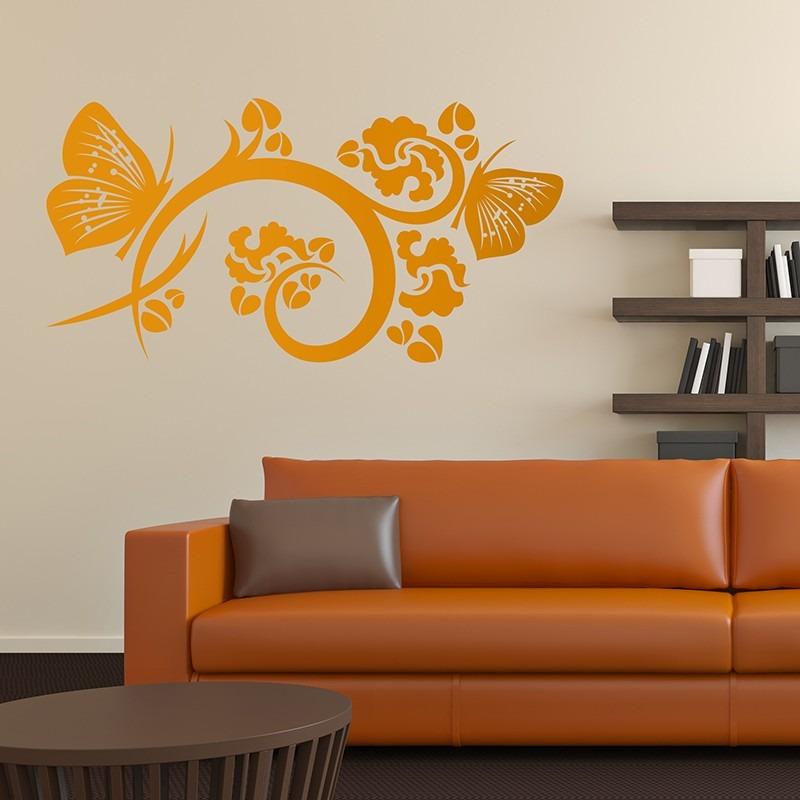 acf055ae42c vinilos decorativos naturaleza diseño floral flores mariposa. Cargando zoom.