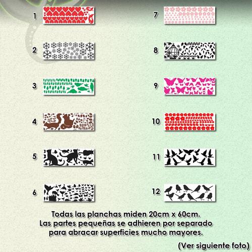 vinilos decorativos p/ pared c/ stickers fosforescentes