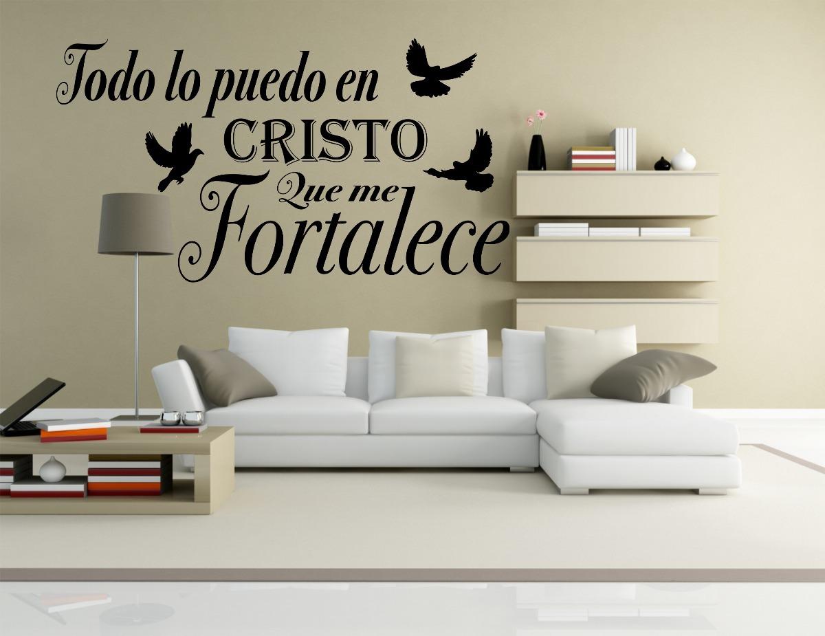 Vinilos Decorativos Para Pared Todo Lo Puedo En Cristo - $ 450,00 en ...