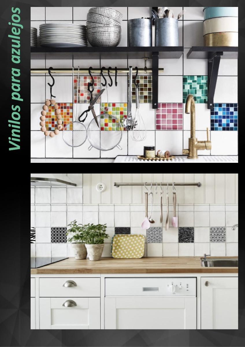 Vinilo para cocina azulejos awesome leroy merlin azulejos for Pegatinas azulejos cocina