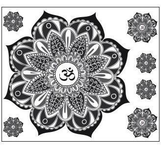 vinilos decorativos para heladeras mandala zen