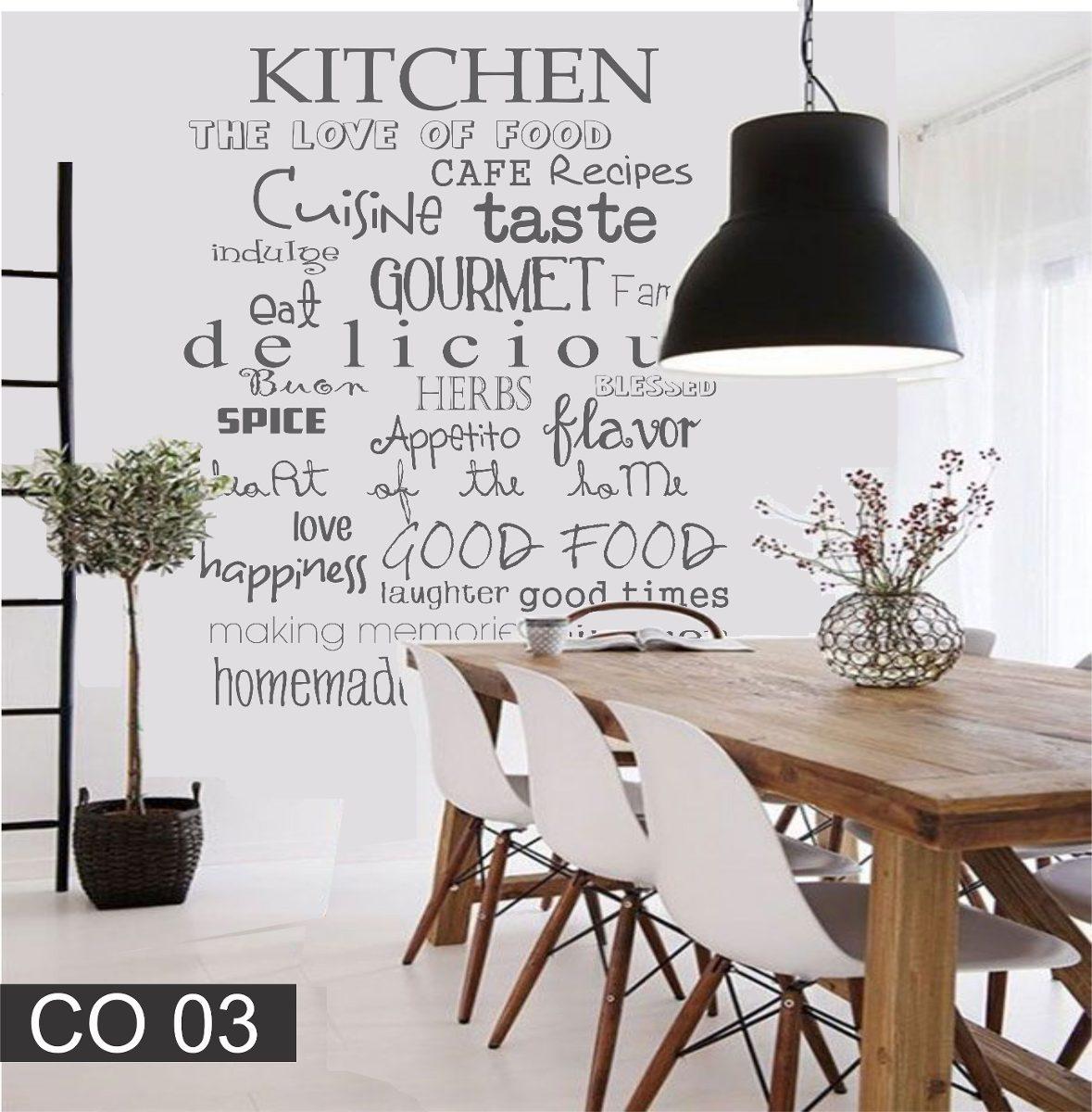 Vinilos Decorativos Para La Cocina Comedor Frase Texto Letra ...