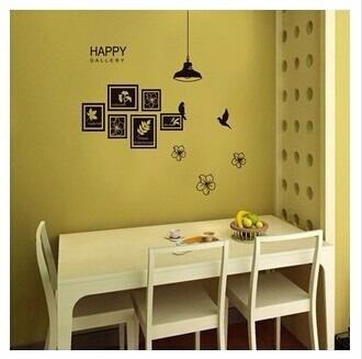 Vinilos decorativos para pared cuadros hojas happy jm7193 for Vinilos para paredes exteriores