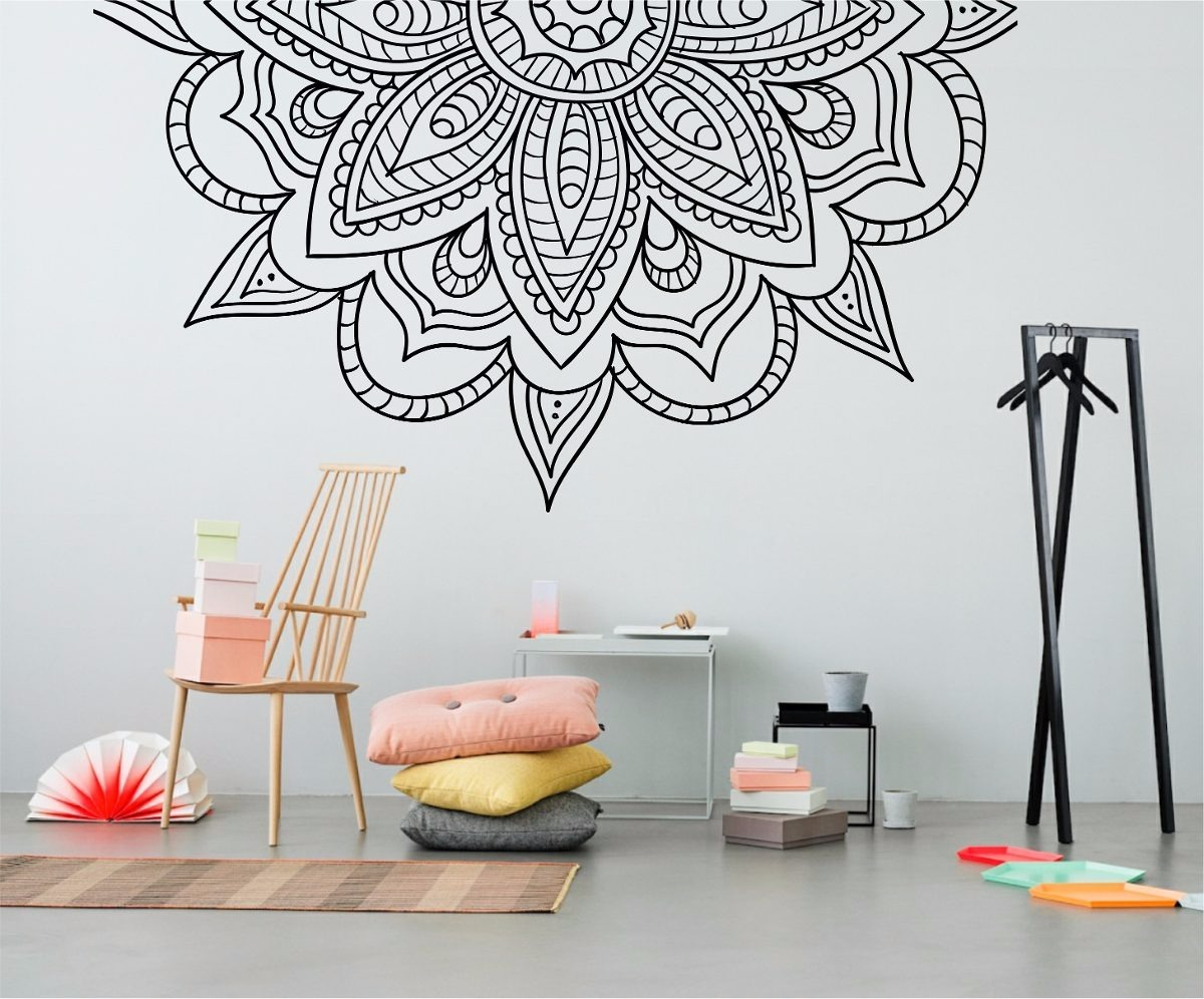 Frases para pared stunning vinilos decorativos de pared - Paredes con dibujos ...