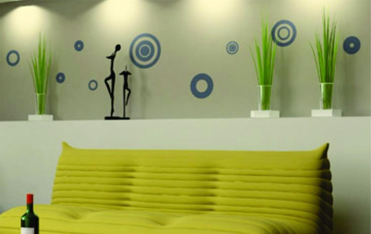 Vinilos decorativos para pared vidrieras murales circulos - Frisos decorativos para paredes ...