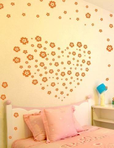 Vinilos decorativos para pared vidrieras murales flores - Vinilos grandes para pared ...
