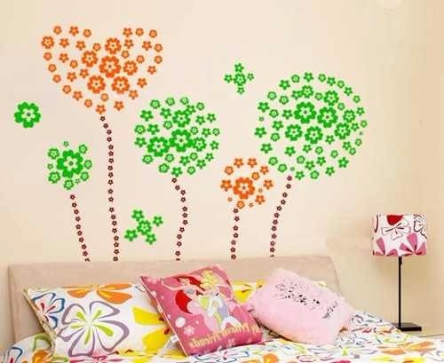Vinilos decorativos para pared vidrieras murales flores for Vinilos decorativos murales