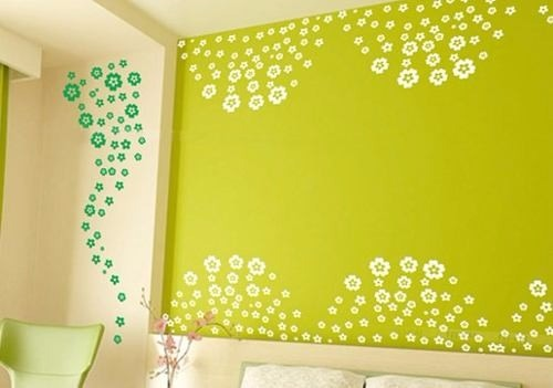 Vinilos decorativos para pared vidrieras murales flores for Murales decorativos pared