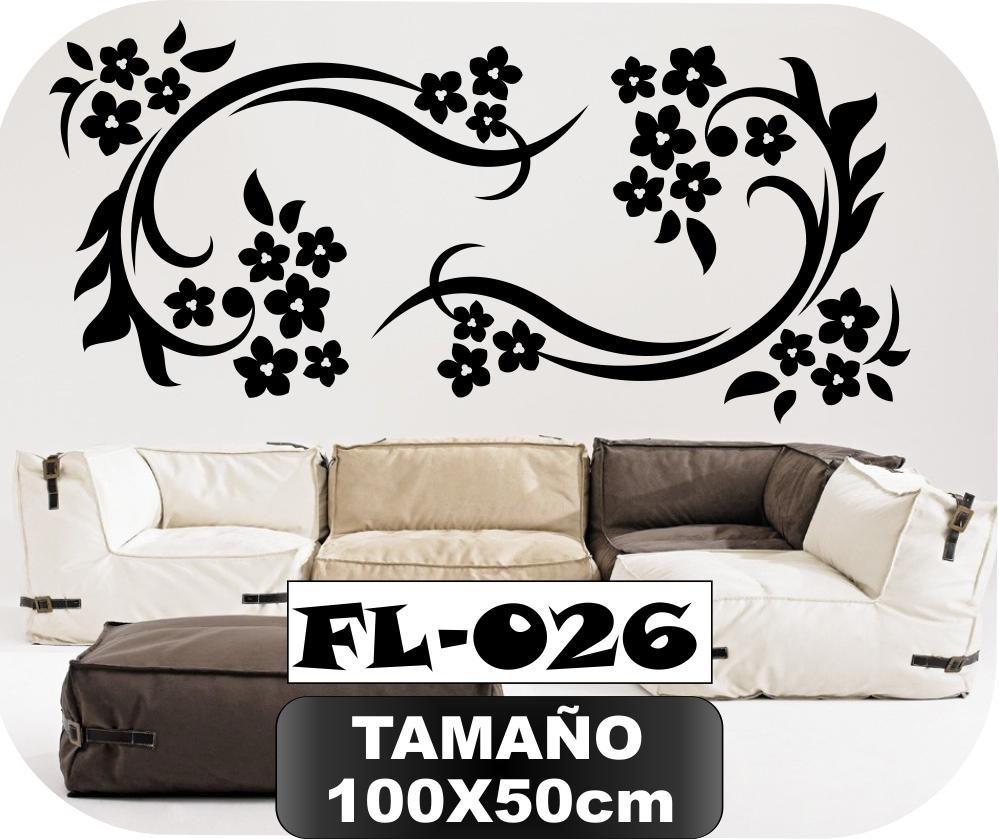 Vinilos decorativos para paredes florales mariposas for Stickers decorativos de pared