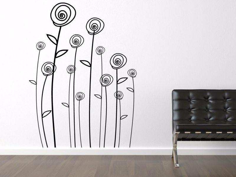 Vinilos decorativos para paredes florales mariposas for En donde venden vinilos decorativos