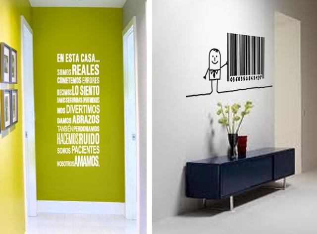 vinilos decorativos para paredes frases