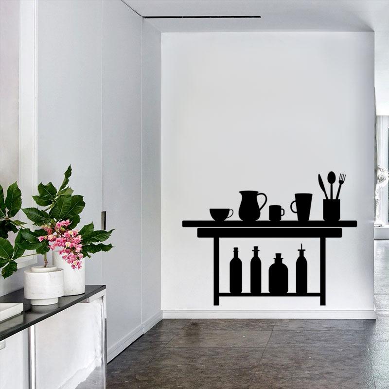 Vinilos Decorativos Pared Cocina Mesa Apoyo Olla 67x51cm - $ 350,00 ...