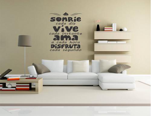 vinilos decorativos pared, frases personalizadas promo 2x1