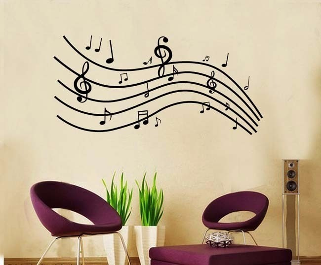Vinilos decorativos pared notas musicales musica jm7038 for Vinilos musicales decoracion