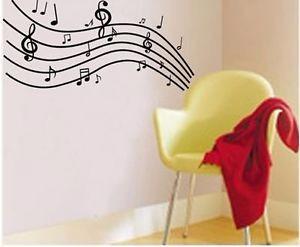 vinilos decorativos pared notas musicales musica jm7038