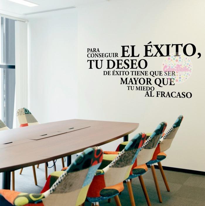 Vinilos Decorativos Pared Oficinas Frase Exito Sala Comedor - $ 780 ...