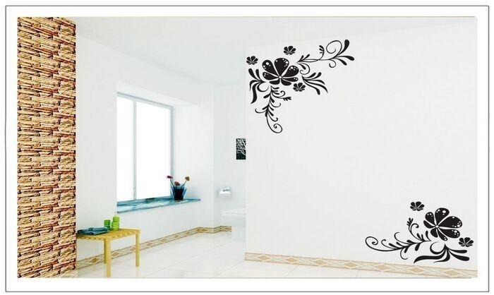 Vinilos Decorativos Pared Naturaleza.Vinilos Decorativos Paredes Naturaleza Flores Negras Jm7021