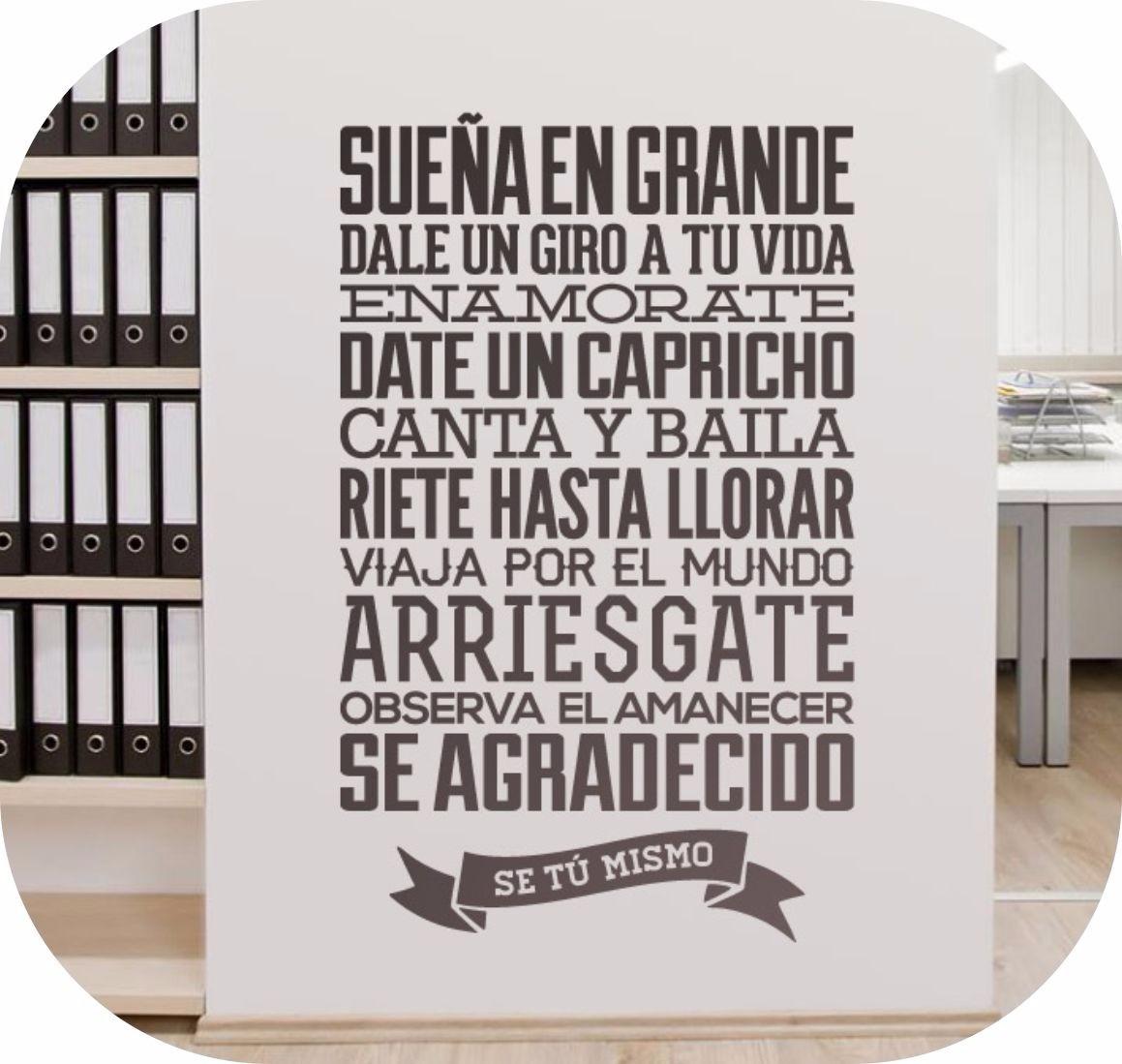 Vinilos decorativos personalizados frases empresas s 50 for Vinilos pared frases