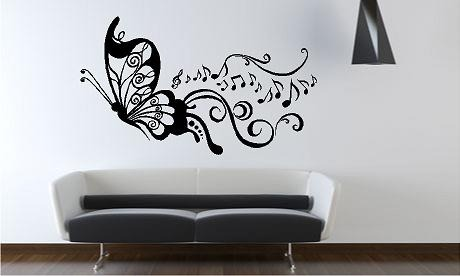 Vinilos decorativos recamara sala casa farol mariposa en mercado libre - Vinilos decorativos para pared infantiles ...