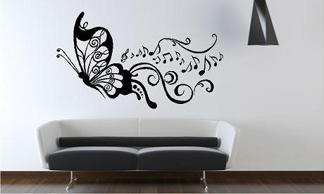 Vinilos decorativos recamara sala casa farol mariposa for Vinilos para pared baratos