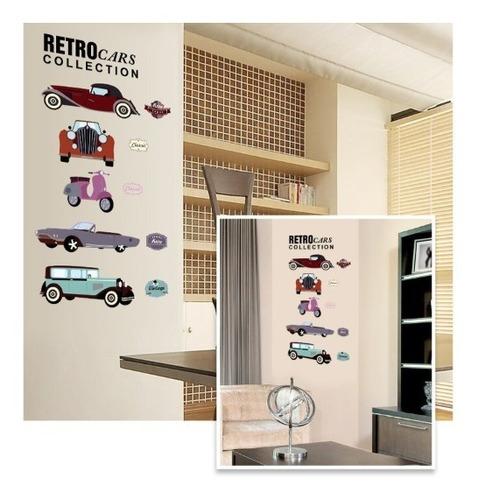 vinilos decorativos retros carros coleccion clasicos  jm8350