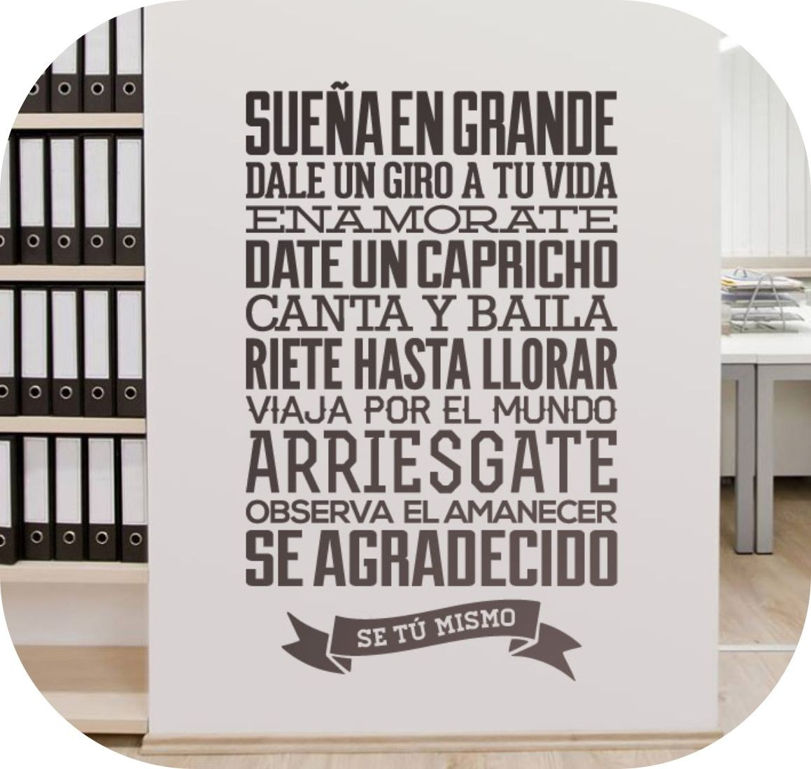Vinilos decorativos textos y frases celebres rotulados for Vinilos pared frases