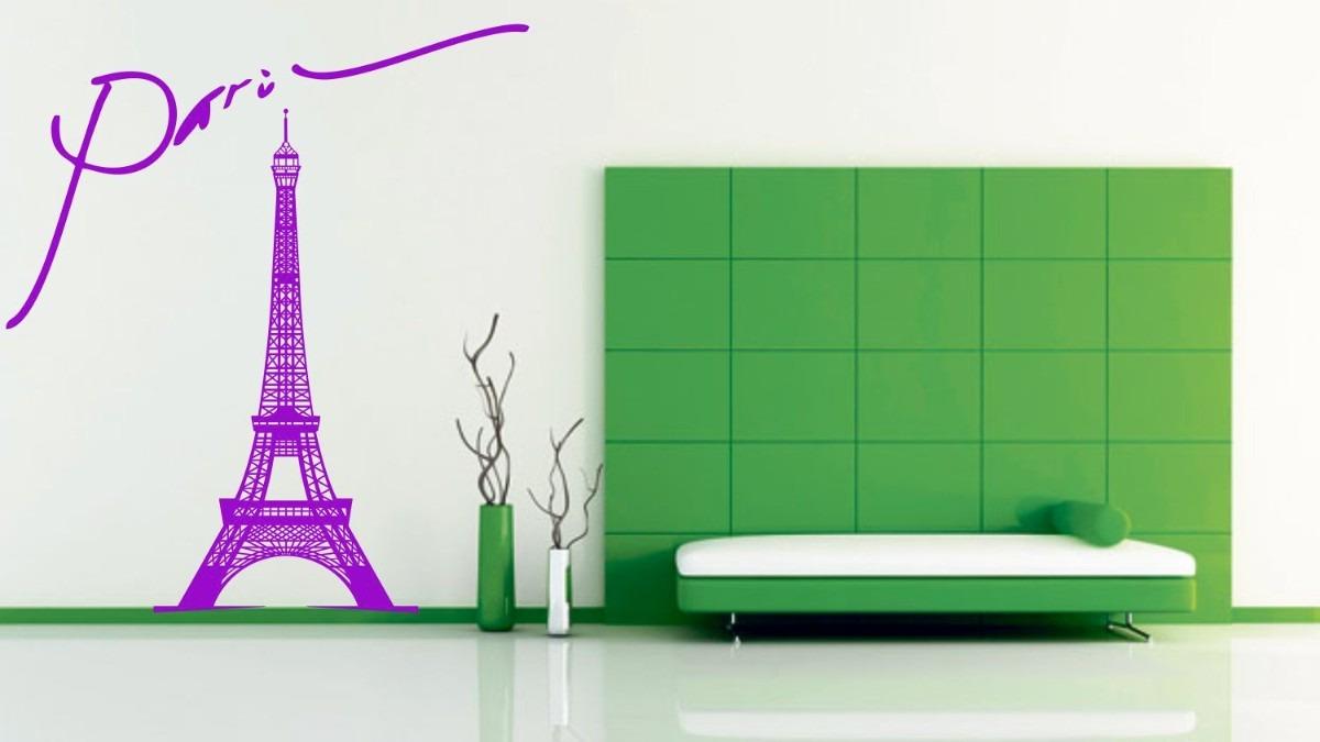 Vinilos decorativos torre eiffel rotulado para paredes for Donde encontrar vinilos decorativos