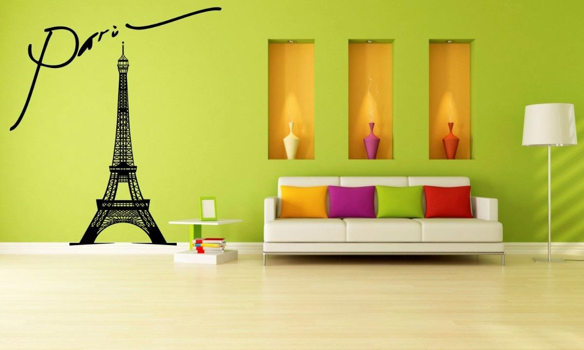 Vinilos decorativos torre eiffel rotulado para paredes for Donde conseguir vinilos decorativos