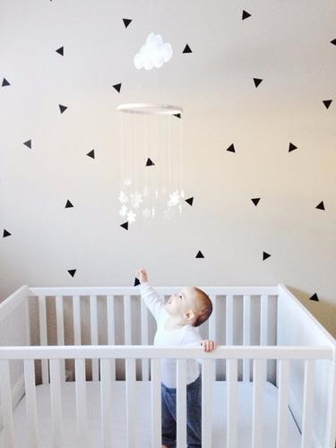 vinilos decorativos triangulo 5 cm x 50 unidades para pared