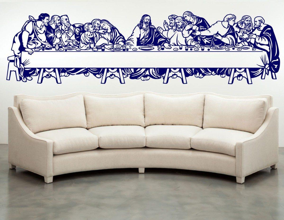 Vinilos decorativos ultima cena grande jesus paredes for Vinilos pared grandes