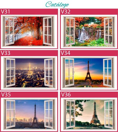 vinilos decorativos ventana 3d
