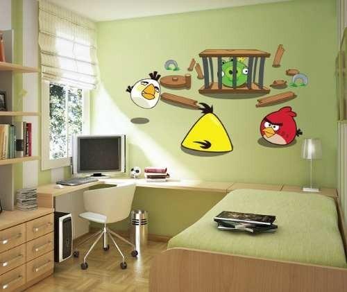 Vinilos decorativos y calcomanias de pared angry birds for Calcomanias pared