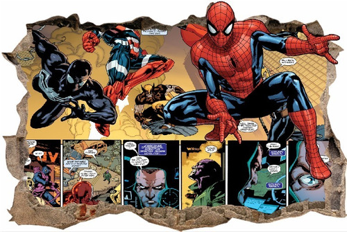 vinilos efecto hueco 3d hombre araña - cali - 1m x 60cm