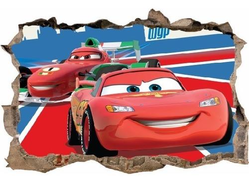 vinilos efecto pared rota cars - cali - 1m x 60cm