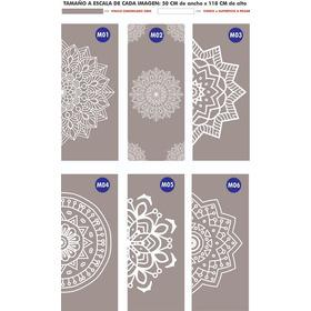 Vinilos Esmerilados - Mandalas - Diseños A Medida
