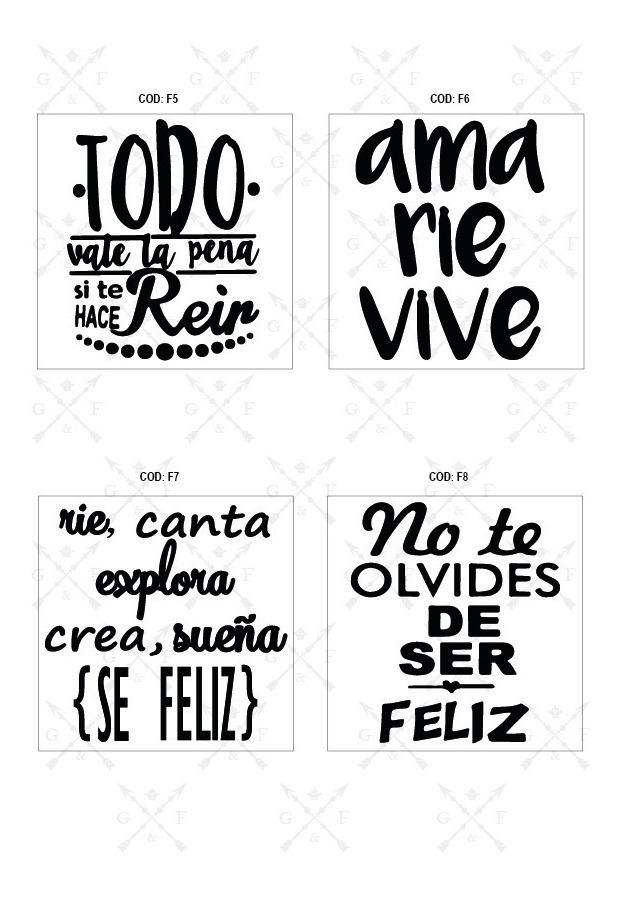 Vinilos Frases 20x25 Cm