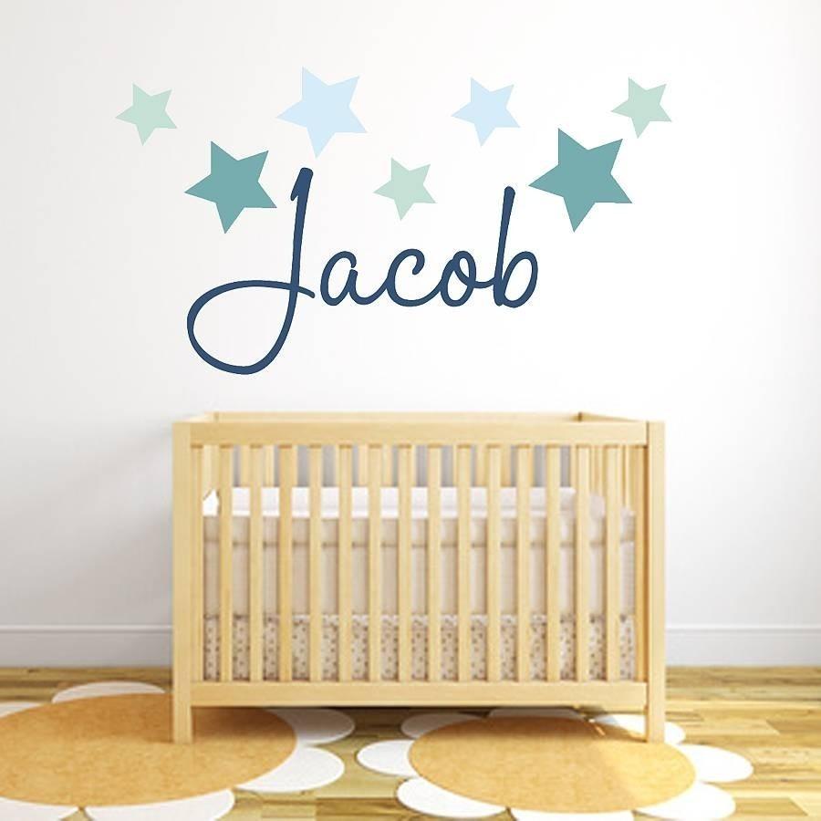 Vinilos Infantiles Niños Niñas Cuarto Bebe Nombre Estrellas - $ 270 ...