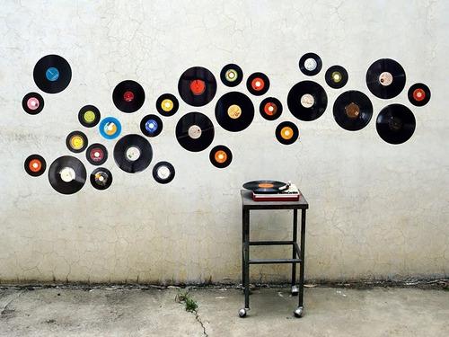 vinilos, lps, acetatos  decoracion discos de acetato