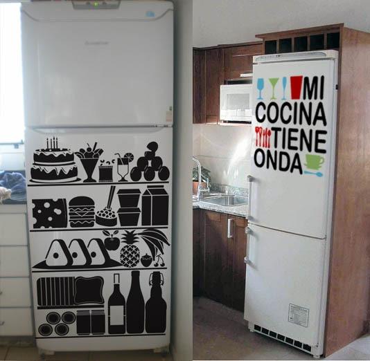 Vinilos Para Cocina - Heladera -  340,00 en Mercado Libre