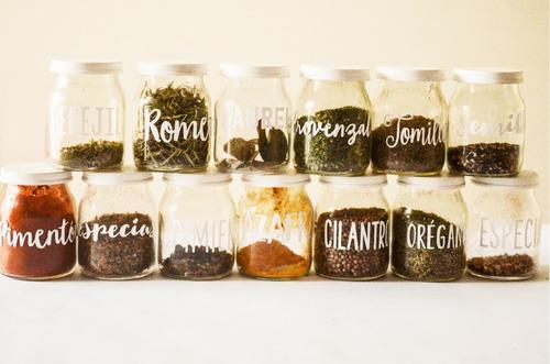 vinilos para frascos especieros x 32