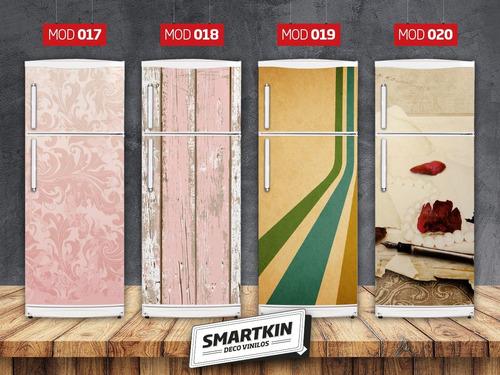 vinilos para heladeras - vintage y texturas - smartkin