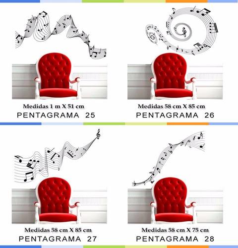 vinilos pared decorativos pentagramas  notas