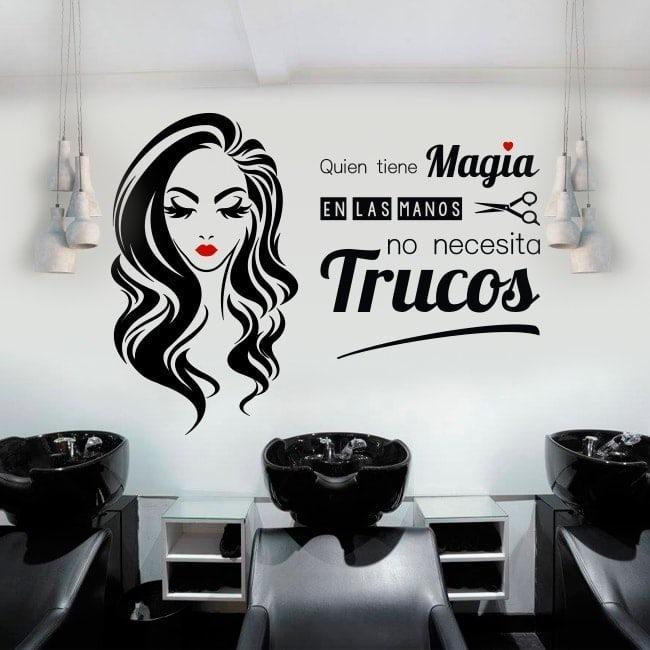 Vinilos salon de belleza quien tiene la magia 120cm x 90 for Vinilos para muebles de salon