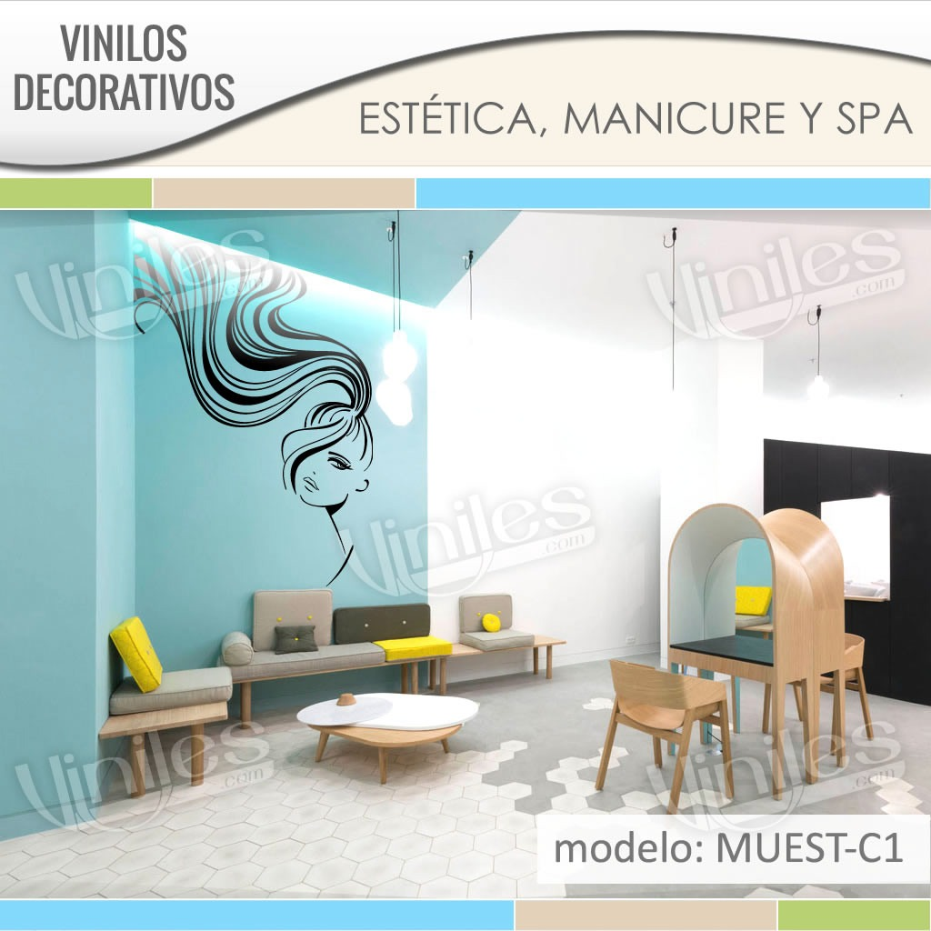 Vinilos stickers decorativos para esteticas pared for Stickers decorativos para ceramica